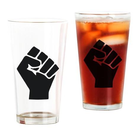 Occupy Fist Drinking Glass