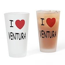 I heart ventura Drinking Glass