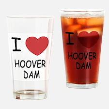 I heart hoover dam Drinking Glass