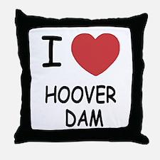 I heart hoover dam Throw Pillow