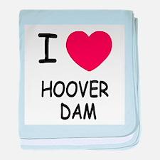 I heart hoover dam baby blanket
