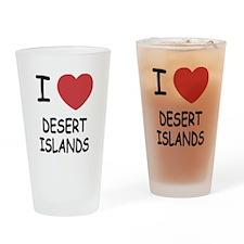 I heart desert islands Drinking Glass
