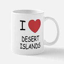 I heart desert islands Mug