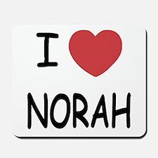 I heart norah Mousepad