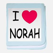 I heart norah baby blanket