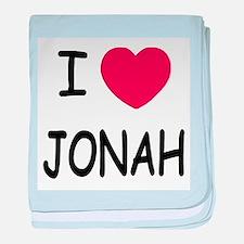 I heart jonah baby blanket