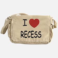 I heart recess Messenger Bag