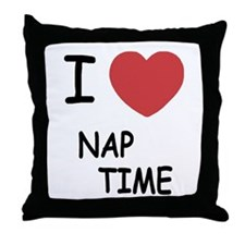 I heart nap time Throw Pillow