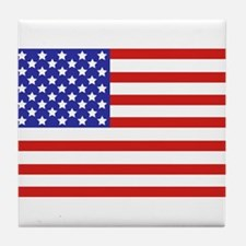 American flag Tile Coaster