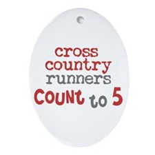Cross Country Counts 5 Ornament (Oval)