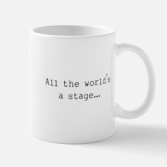the world's a stage Mug