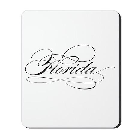 FLORIDA Black Script Mousepad