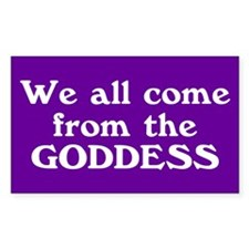 goddess... Rectangle Decal