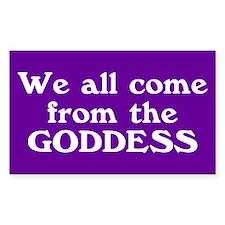 goddess... Rectangle Stickers