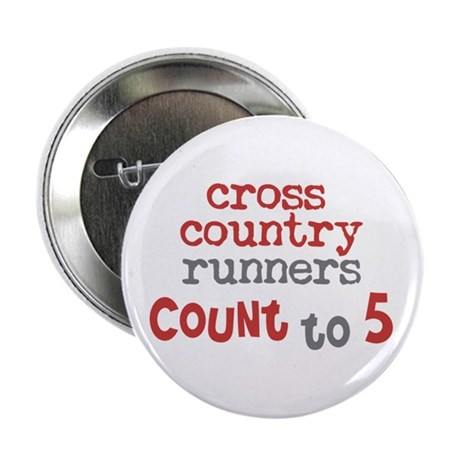 """Cross Country Counts 5 2.25"""" Button"""