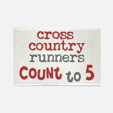 Cross Country Counts 5 Rectangle Magnet (10 pack)