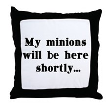my minions Throw Pillow