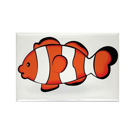 Clown Fish Rectangle Magnet (10 pack)