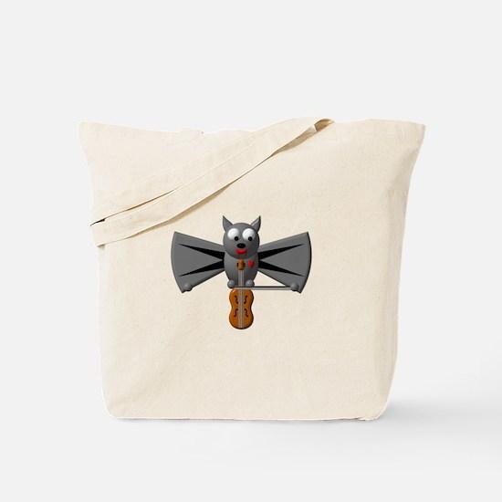 CUTE VAMPIRE BAT WITH VIOLIN Tote Bag