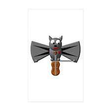 CUTE VAMPIRE BAT WITH VIOLIN Decal