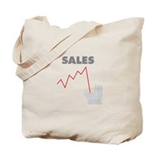 Sales in the Toilet Tote Bag