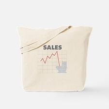 Sales in the Toilet Tote Bag