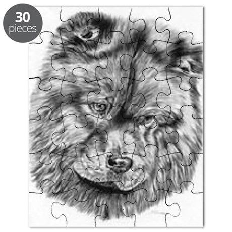 Chow Chow Pencil Drawing Puzzle