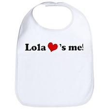 Lola loves me Bib