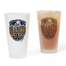 USN Navy Seabees Shield Drinking Glass