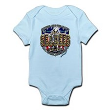 USN Navy Seabees Shield Infant Bodysuit