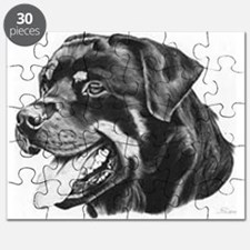 Rottweiler Pencil Drawing Puzzle