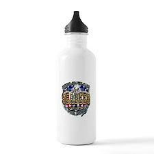 USN Navy Seabees Shield Metal Water Bottle