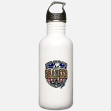 USN Navy Seabees Shield Metal Water Bottle