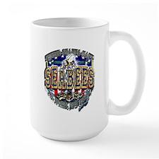USN Navy Seabees Shield Metal Mug