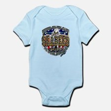 USN Navy Seabees Shield Metal Infant Bodysuit