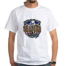 USN Navy Seabees Shield Metal Shirt