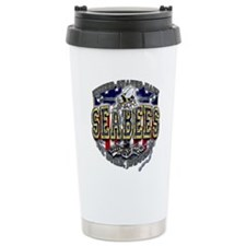 USN Navy Seabees Anchor Shiel Travel Mug