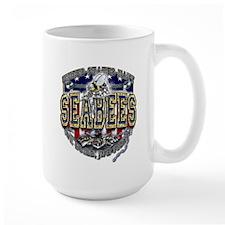 USN Navy Seabees Anchor Shiel Mug