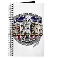 USN Navy Seabees Anchor Shiel Journal