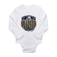 USN Navy Seabees Anchor Shiel Long Sleeve Infant B
