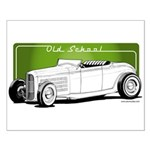 Old School Hot Rod Small Poster