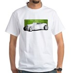 Old School Hot Rod White T-Shirt