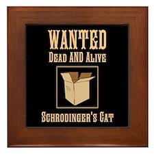 Schrodinger's Cat Framed Tile