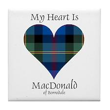 Heart - MacDonald of Borrodale Tile Coaster