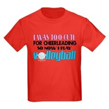 Too Cute Volleyball T