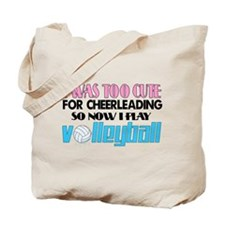 Too Cute Volleyball Tote Bag
