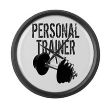 Personal Trainer Weight Training Large Wall Clock