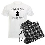 Catholic By Birth, Ninja By C Men's Light Pajamas