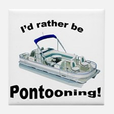 Pontoon boat Tile Coaster