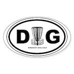 DG Oval - Disc Golf - Sticker (Oval)